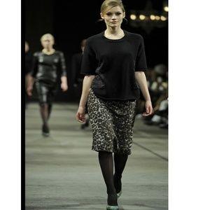 Malene Birger Leopard Print Balenia Pencil Skirt M